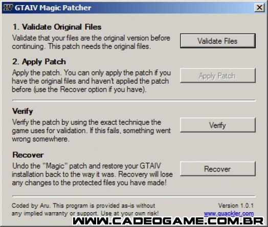GTA 4 Magic Patcher - автоматически устанавливаемый патч, позволяющий без п