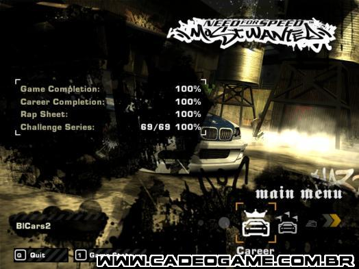 NFS: Most Wanted - Cadê o Game - Download - Savegames - Save