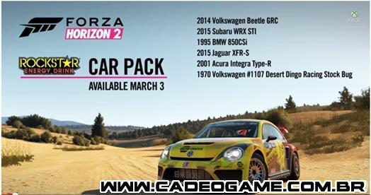 Novo DLC de Forza Horizon2 já disponível para download