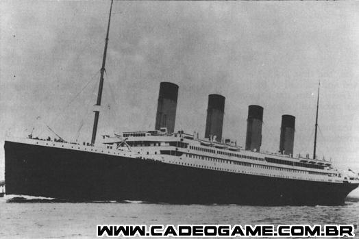 Menção ao Titanic no jogo.