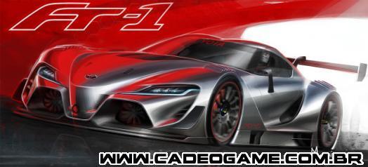 Versão de pista do carro concept Toyota FT-1 no GT6