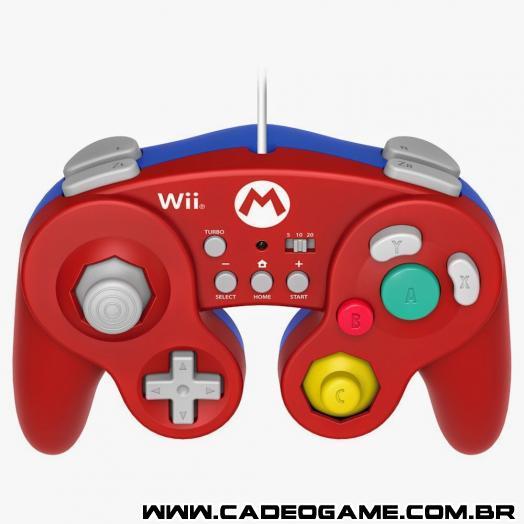 Empresa lançará controles temáticos de Mario e do Luigi inspirados no controle do GameCube
